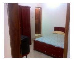 Chambre meublée avec toilette intérieure